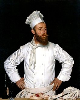 Orpen, William, 1878-1931; Le Chef de l'Hotel Chatham, Paris